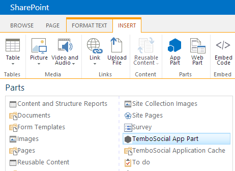 Easy integration for SharePoint administrators | TemboSocial