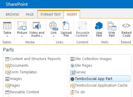 Easy integration for SharePoint administrators | TemboSocial