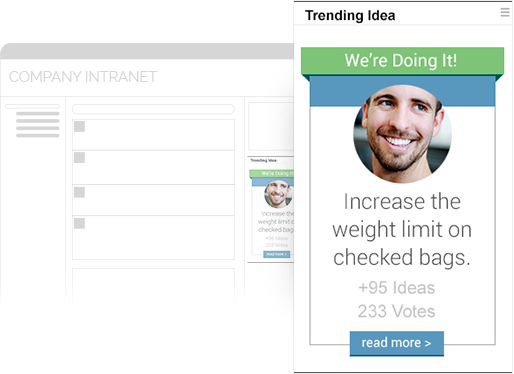 Configure Ideas banners inside your Intranet