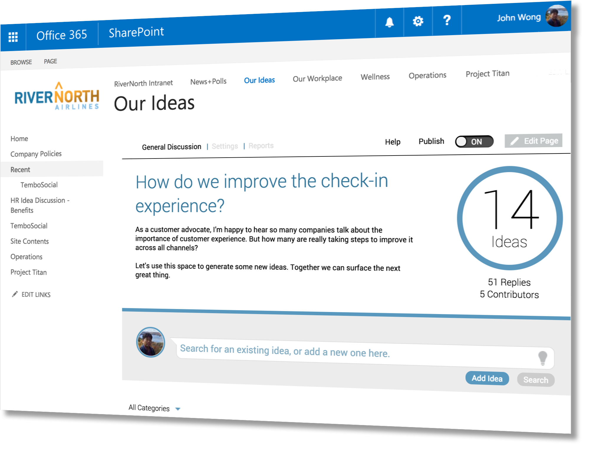 TemboSocial Ideas for SharePoint and Office 365