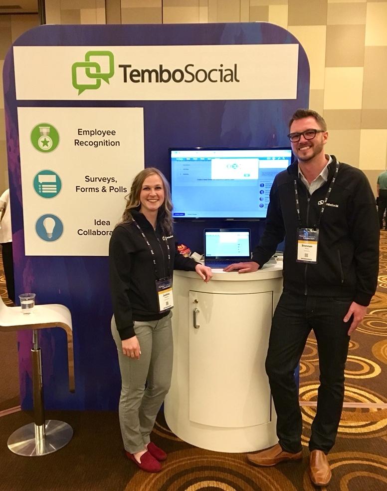 TemboSocial Booth at JiveWorld17 Partner Showcase