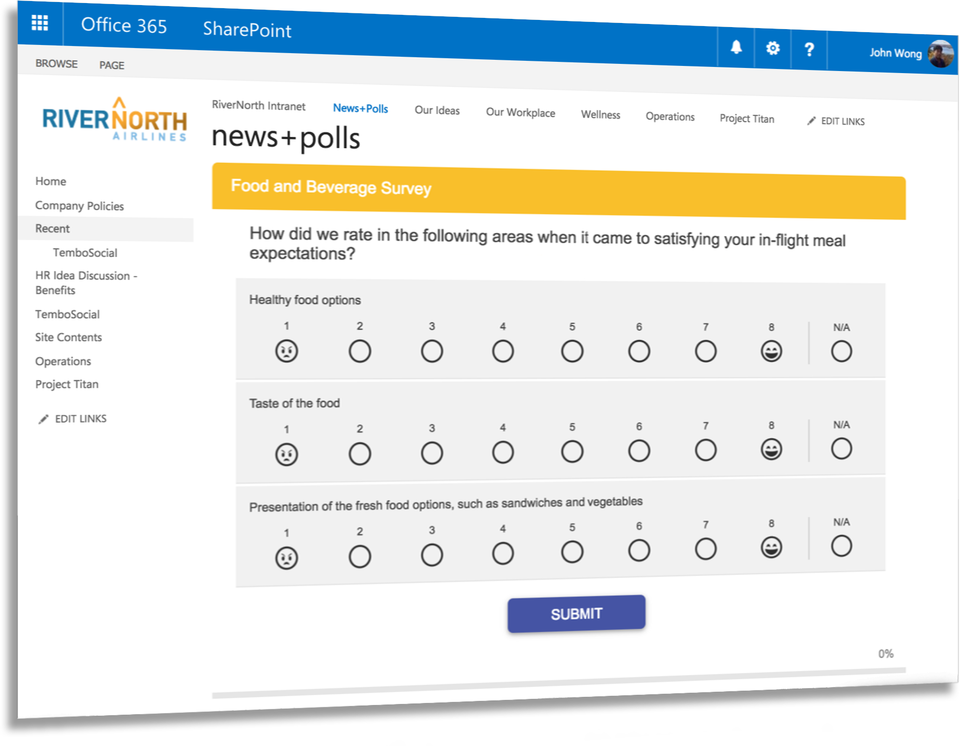 TemboSocial Surveys, Forms and Polls for SharePoint and Office 365