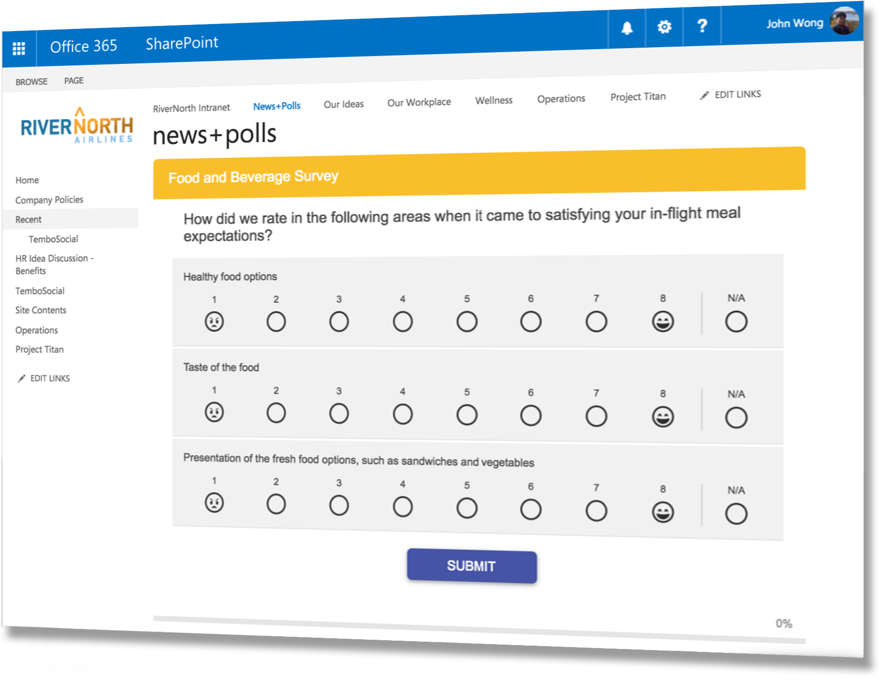 tembosocial surveys forms polls for sharepoint and office 365