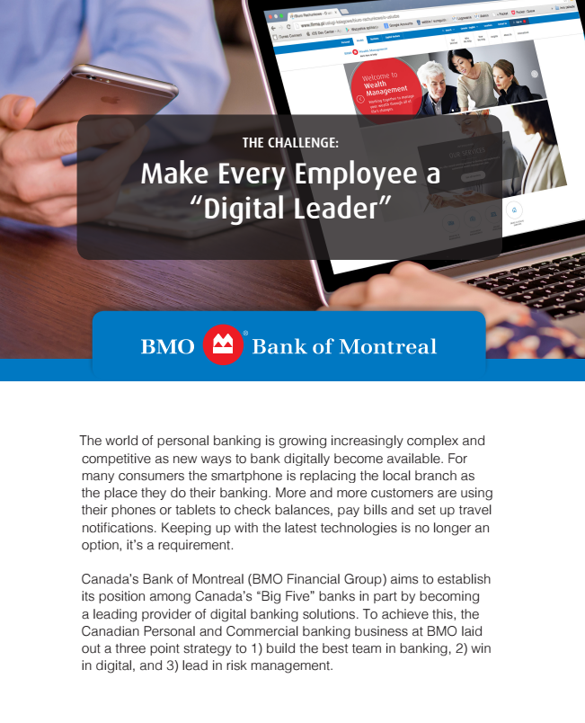 Case Study: BMO involved employees in their new digital strategy using TemboSocial Ideas