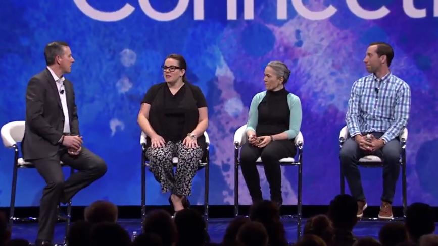 JiveWorld17 Customer Panel with Bridget Clark (second from left)