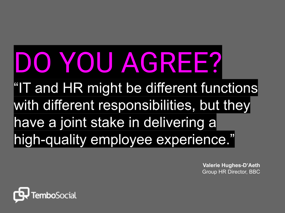 IT and HR - Partners in Employee Experience