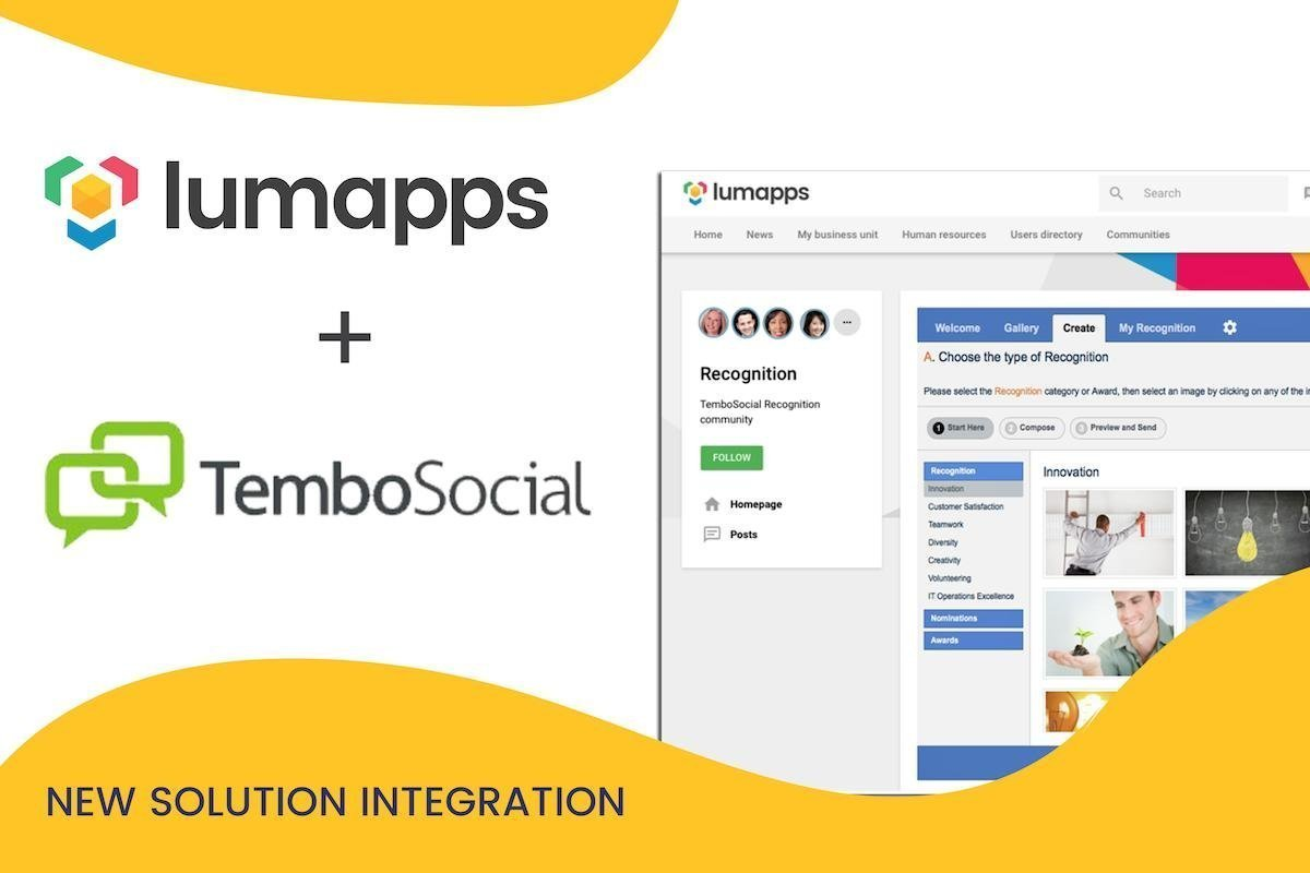 LumApps unveils new integration with TemboSocial